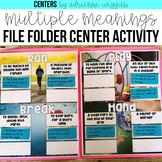 Multiple Meanings File Folder Game