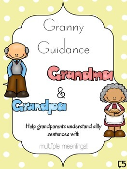 Multiple Meanings Game - Granny Guidance   Includes Baseli