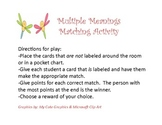 Multiple Meanings Matching Game