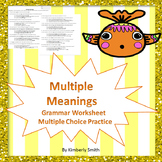 Multiple Meanings Test Prep