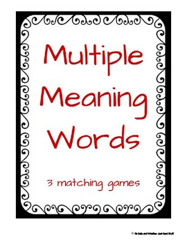 Multiple Meanings Words