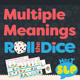 Multiple Meanings Words (homonyms): Roll-the-Dice Games