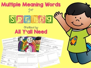 Multiple Meanings for Spring {Freebie}