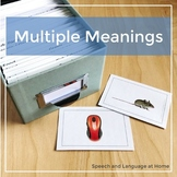 Multiple Meanings (homophones) - Photo Cards