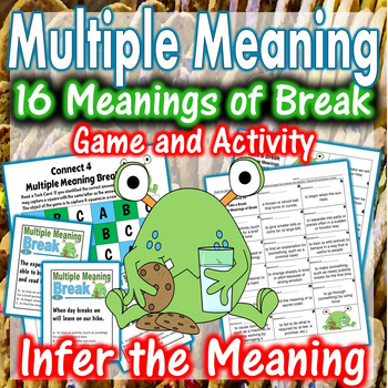 Multiple Meanings of Break Center Activity and Connect 4 Game