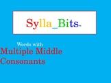 MAP NWEA Reading Multiple Middle Consonants SyllaBits Syllable Slideshow
