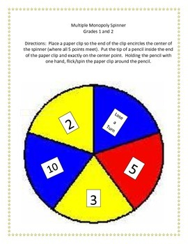 Multiple Monopoly - Grades 1 and 2