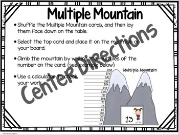 Factors and Multiples: Multiple Mountain finding Multiples Activity