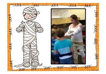 Halloween Math: Multiples Mummy Activity