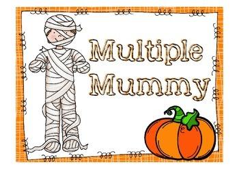 """Halloween Math """"Multiples Mummy Activity"""""""