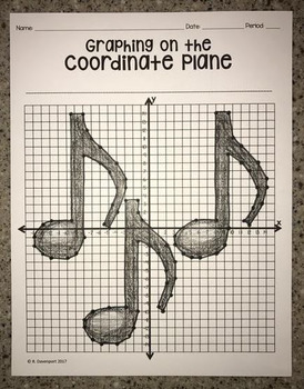 Multiple Musical Notes (Graphing on the Coordinate Plane/ Mystery Picture)