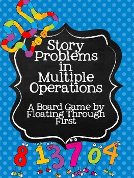 Story Problem Board Game in Multiple Operations