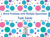 Multiple Operations Word Problem Task Cards