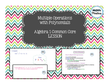Multiple Operations with Polynomials