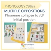 Multiple Oppositions initial phoneme collapse to /d/