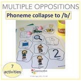 Multiple Oppositions initial phoneme collapse to /b/