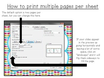 Multiple Page Print Directions Freebie