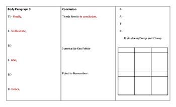 Multiple Paragaraph Essay Foldable