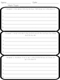 Multiple Paragraph Graphic Organizer for Expository Writing