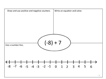 Multiple Pathways to Integers Workbook and Presentation