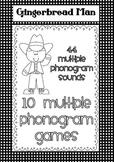 Multiple Phonogram Games - Cowboy Gingerbread Men