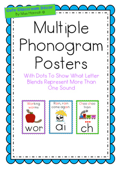 Multiple Phonogram Posters (suitable for use with LEM Phon