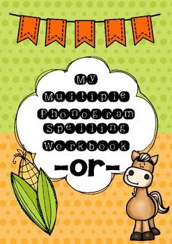 Multiple Phonogram Spelling Workbook - or