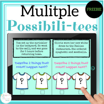 Multiple Possibilities FREEBIE Language Predictions Middle School NO PRINT