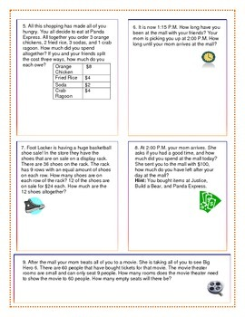 Word Problems: Division/Multiplication - Multiple Steps/Multiple Questions