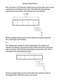 Multiple Representation of Division 4th Grade Math TEKS