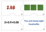 Multiple Representation Decimals. Math Center. 3rd-5th