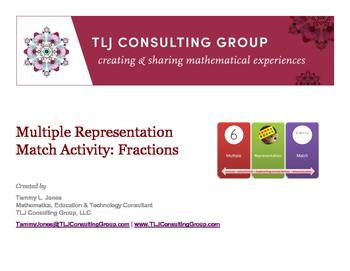 Multiple Representation Match Activity: Fractions