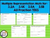 Multiple Representation Mats TEKS 3.2A 3.4A 3.5A 3.5B 3.5K 3.3A