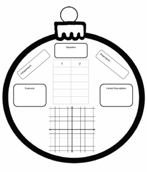 Multiple Representations Christmas Ornament Activity