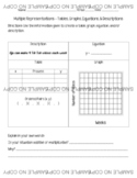 Multiple Representations HANDOUT AND GOOGLE FORM - TEKS and CCSS