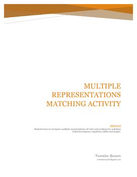 Multiple Representations Matching Activity