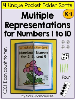 Multiple Representations for Numbers 1 to 10: 4 Unique Poc