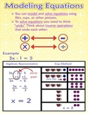Multiple Representations for Solving Equations Poster