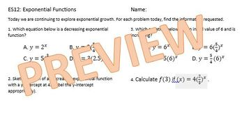 Multiple Representations of Exponential Functions