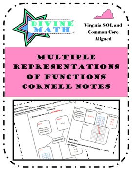 Multiple Representations of Functions Cornell Notes