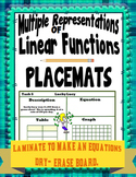 Multiple Representations of Linear Functions- Placemats