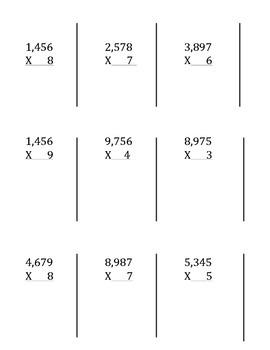 Multiple Representations of Multiplication 4th grade TEKS