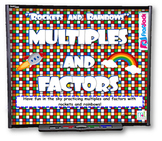 Multiple Rockets & Factor Rainbows SMART BOARD Game
