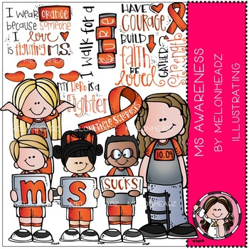 Multiple Sclerosis Awareness clip art - by Melonheadz