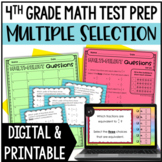 4th Grade Math Test Prep: Multiple Select Questions (Set 2: Fractions)