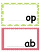 Multiple Sets..Word Family Center..-ab,-an, -ag,-am,-ig,-i