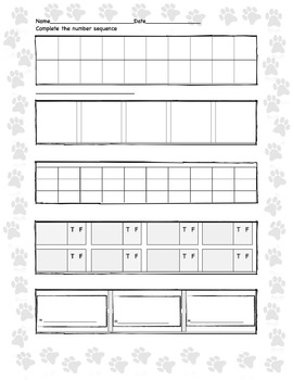 Multiple Skills Math Practice Template