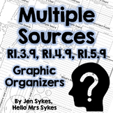 Multiple Sources Informational Text Graphic Organizers RI.3.9 RI.4.9 RI.5.9