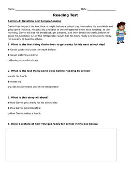 Multiple Standards and Topics Reading Test