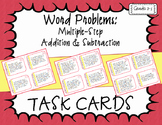 Multiple-Step Addition & Subtraction Word Problem Task Cards